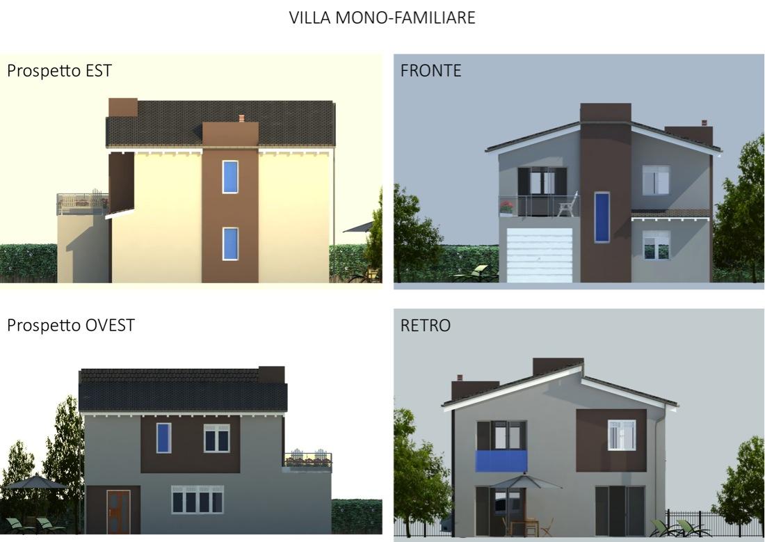 Ville monofamiliari for Prospetti ville